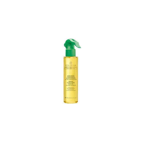 Collistar  Olio ricco rassodante elasticizzante con olio di mandorle dolci  olio corpo 150 ml