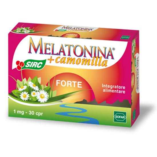 MELATONINA FORTE 10 COMPRESSE  Integratore alimentare a base di melatonina e di estratto di camomilla