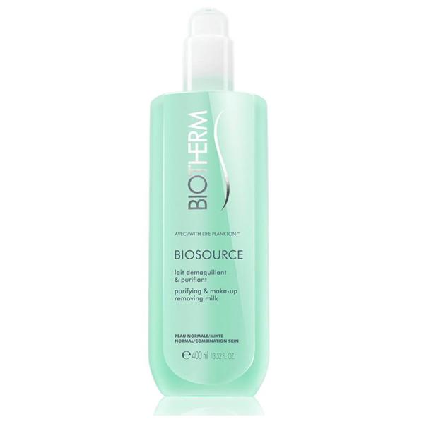 Biotherm Biosource lait demaquillant  purifiant  latte detergente viso pelle normale e mista 400 ml
