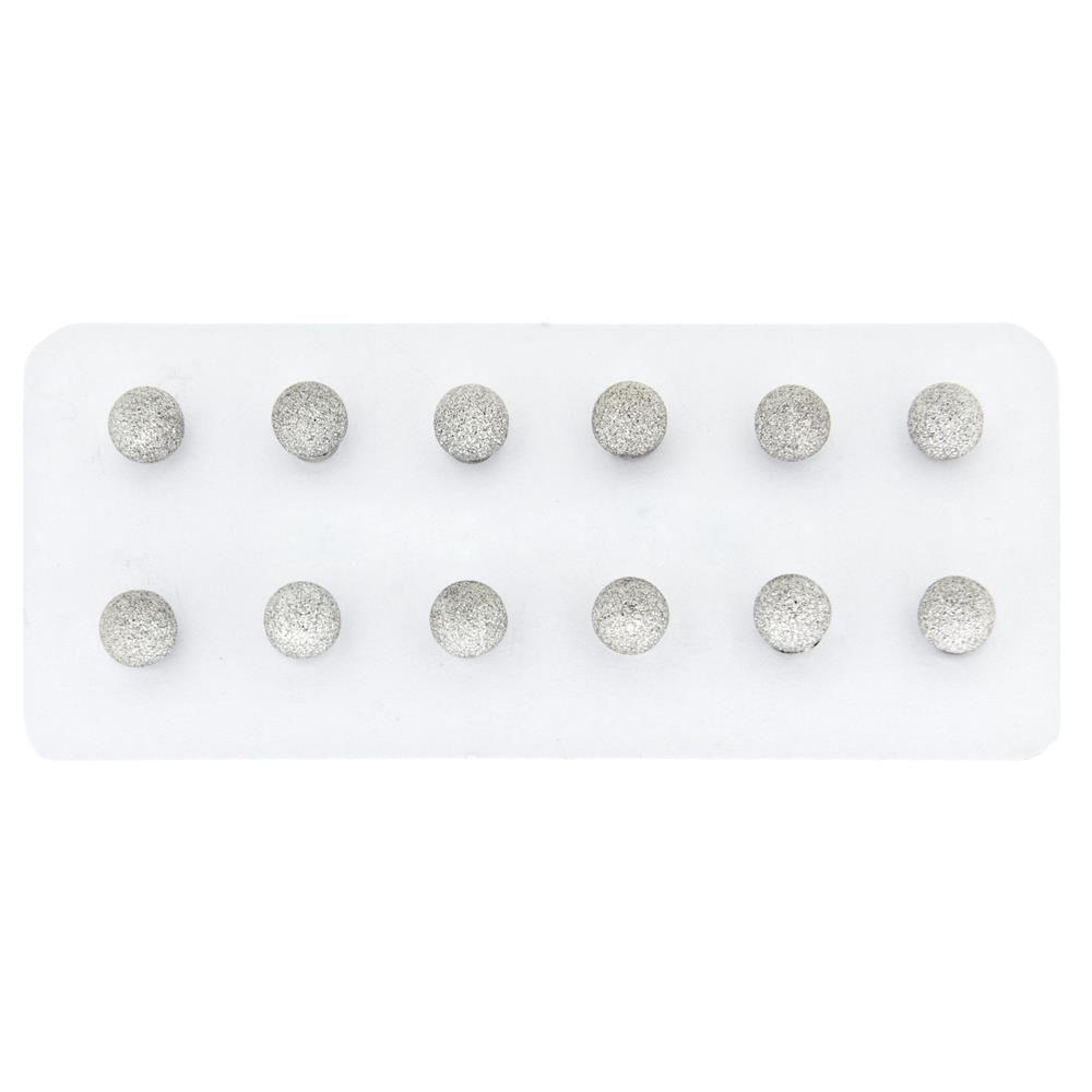 Paclo 15PA04CYER999 argento ag 925 Orecchini Galvanica Rodiata Puntinato Palline 06cm