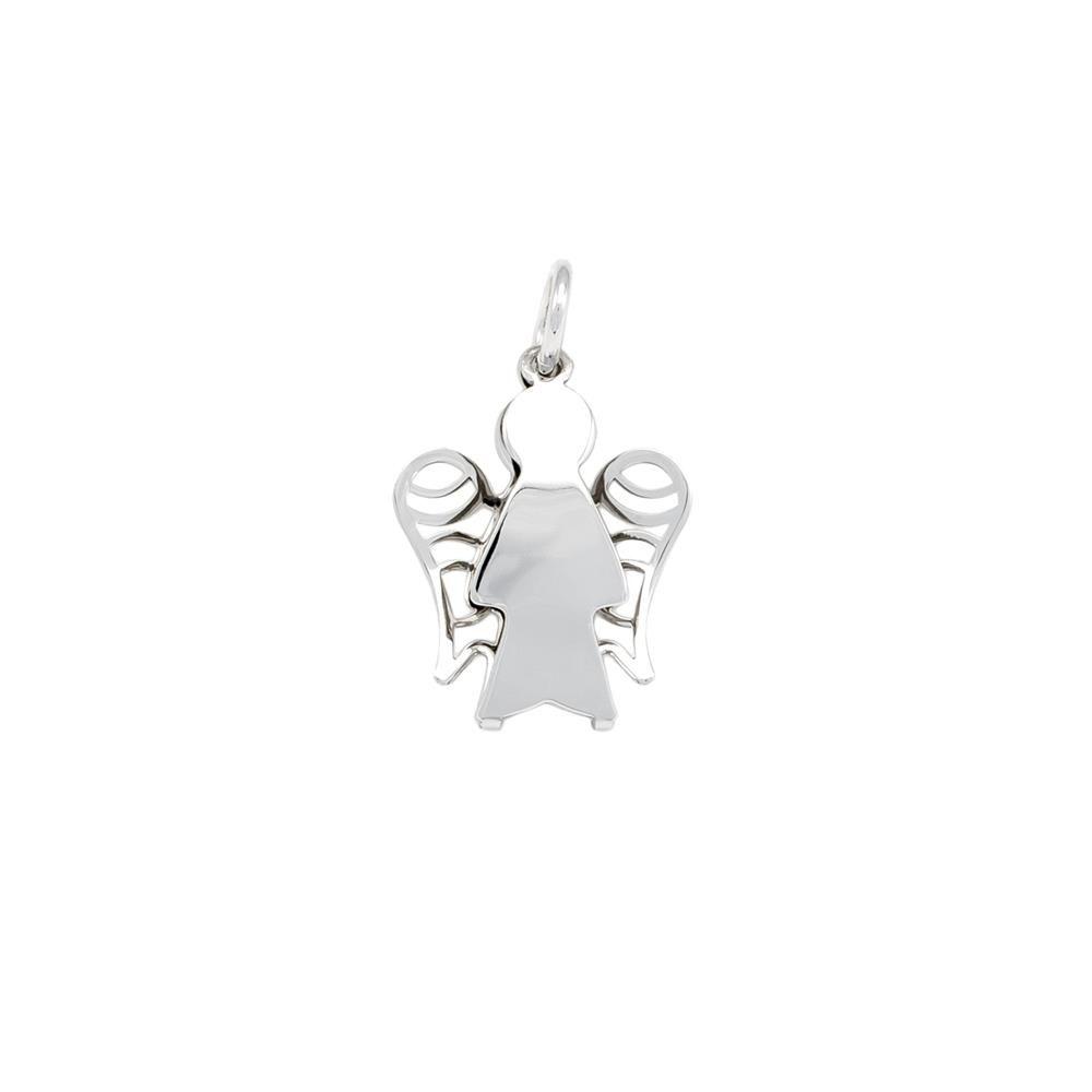 Paclo 16BA09LIPR999 argento ag 925 Pendente Galvanica Rodiata Angelo 2cm