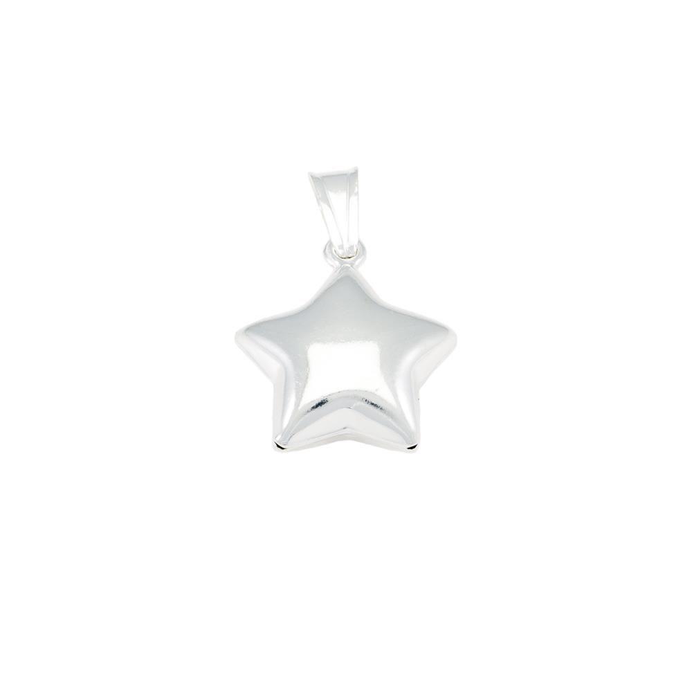 Paclo 16ST18LIPA999 argento ag 925 Pendente Galvanica Argentata Stella 2cm