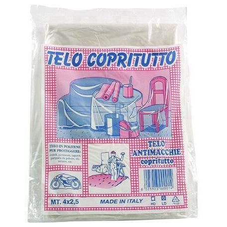 TELONE POLIETILENE TRASPARENTE SENZA OCCHIELLO MM003 MT 4X3