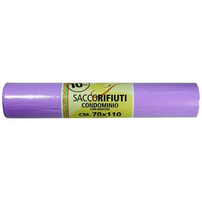 SACCHI VIROSAC CONDOMINIO VIOLA PZ10 CM 70X110