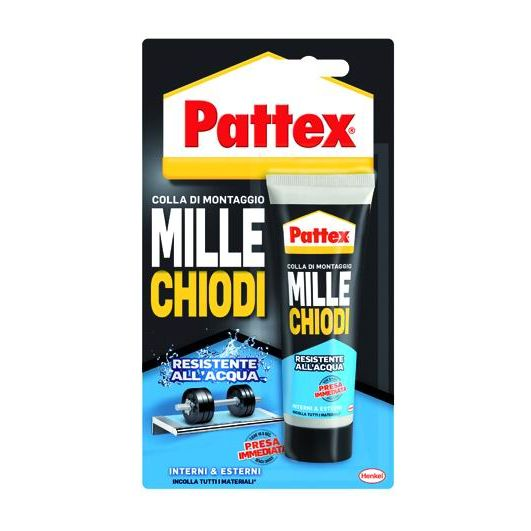 ADESIVI PATTEX MILLECHIODI WATER RESISTANT TUBO GR 100