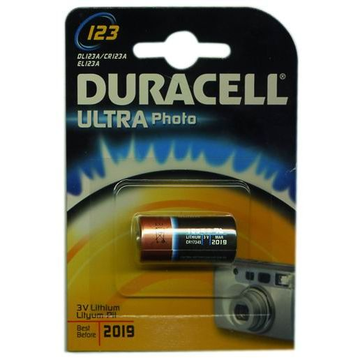 PILE DURACELL PHOTO LITIO 3V CR 123 A
