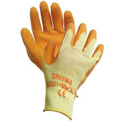 GUANTI da lavoro in latex ruvido SHOWA 310GRIP ARANCIONE CE2 MIS 9 L