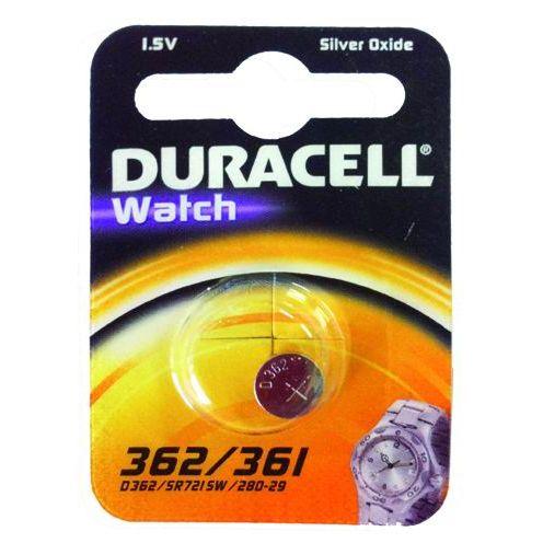 PILE DURACELL WATCH SILVEROXIDE 15V D 362361