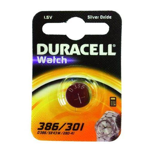 PILE DURACELL WATCH SILVEROXIDE 15V D 386301