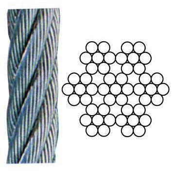 FUNI ACCIAIO INOX 49 FILI AISI 316 MT 100 DIAMM 2