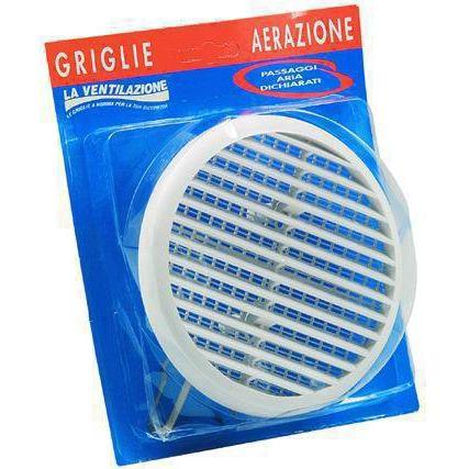 GRIGLIA AERAZIONE PVC CON RETE TONDE BLISTTUR125X MM 90145