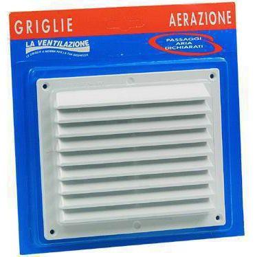 GRIGLIA AERAZIONE PVC CON RETE BLISTER ART BR1714X MM175X146