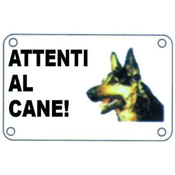 CARTELLO SEGNALI METALLO ATTENTI AL CANE MM240X170