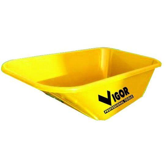 VASCA PER CARRIOLE VIGOR PLASTIC GIALLA 2013 LT 100