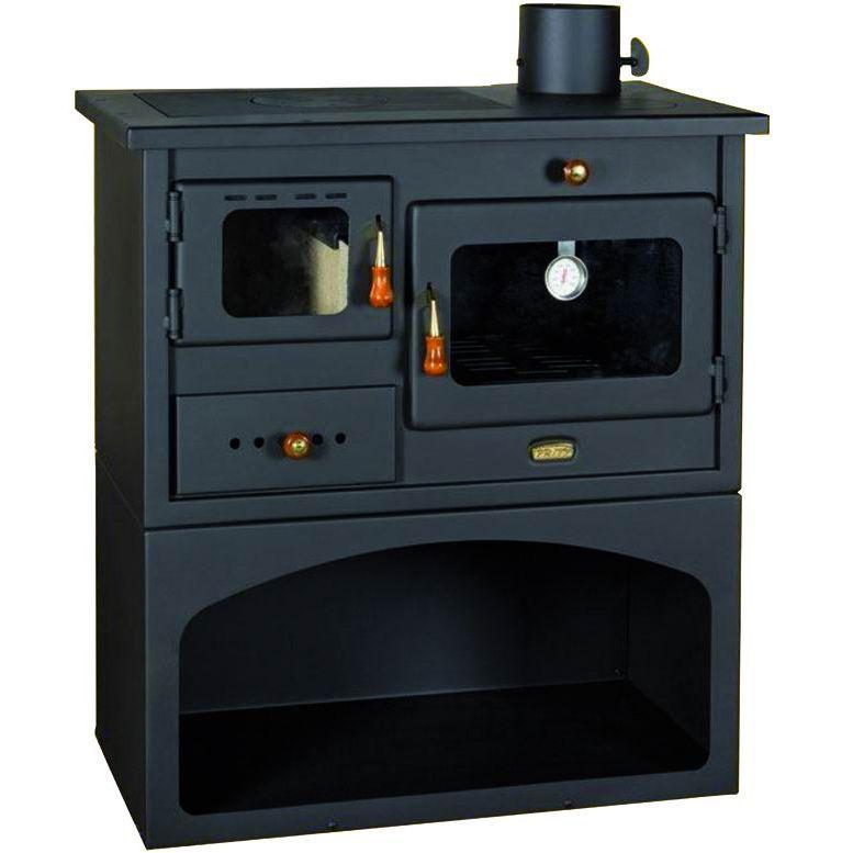 Cucina a legna acciaio mod mia con forno antracite ean for Vendita cucine a legna usate