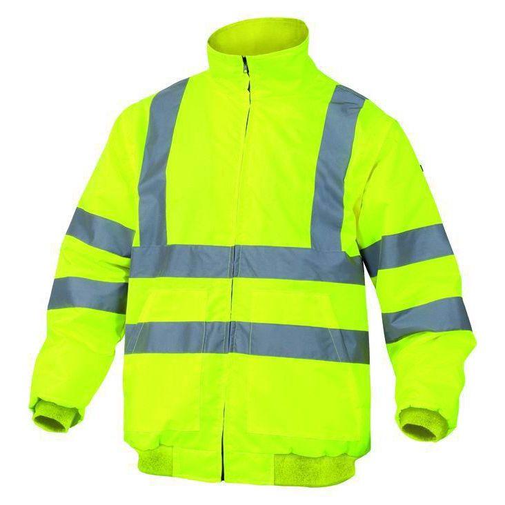 Giubbotto alta visibilita Taglia M PANOPLY RENOHV GIALLOFLUO giaccone sicurezza lavoro antinfortunistica stradale
