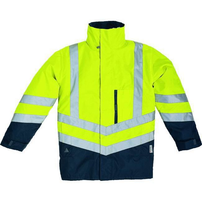 PARKA PANOPLY OPTIMUM 4 in 1 TAGLIA M GIALLOFLUOBLU giacca giaccone giubbino gilet alta visibilit sicurezza antifornutinstica antifreddo