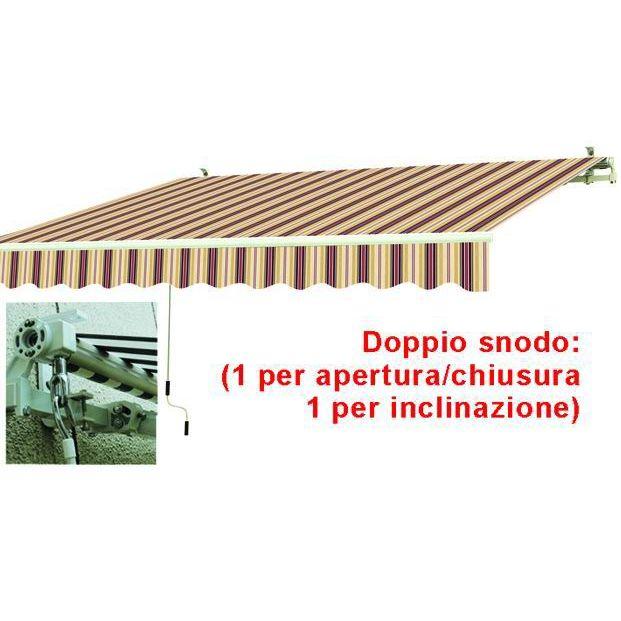 TENDE DA SOLE AVVOLGIBILI A SBRACCIO BIAROSSO CM395X250
