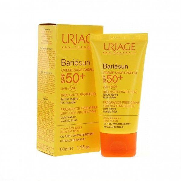 Crema Solare Protettiva Senza Profumo Bariesun Spf50 Tubo Da 50 Ml