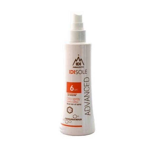 Idi Sole Advanced Olio Spray Solare Corpo e Capelli Protezione Solare SPF 6