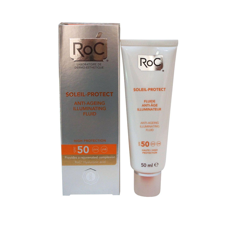 Roc Soleil Protect Fluida Viso Anti Et Illuminante SPF50 50 ml