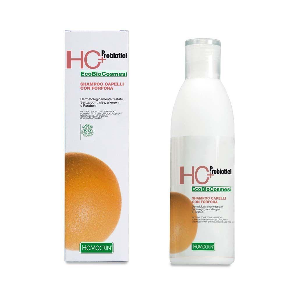 Specchiasol Homocrin Shampoo Naturale Normalizzante per Capelli con Forfora Secca e Grassa