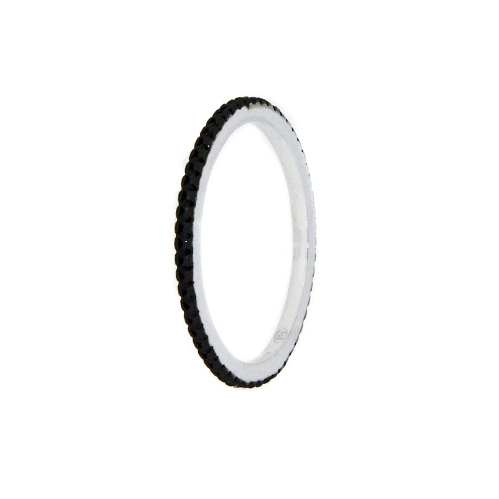 Paclo 11Z059IPRR99D argento ag 925 Anello Dim 11 ITA o 51 ISO Galvanica Rodiata Zircone Colorato