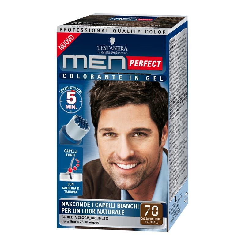 Testanera  Colorante per capelli in gel senza ammoniaca men perfect n 70 castano scuro naturale