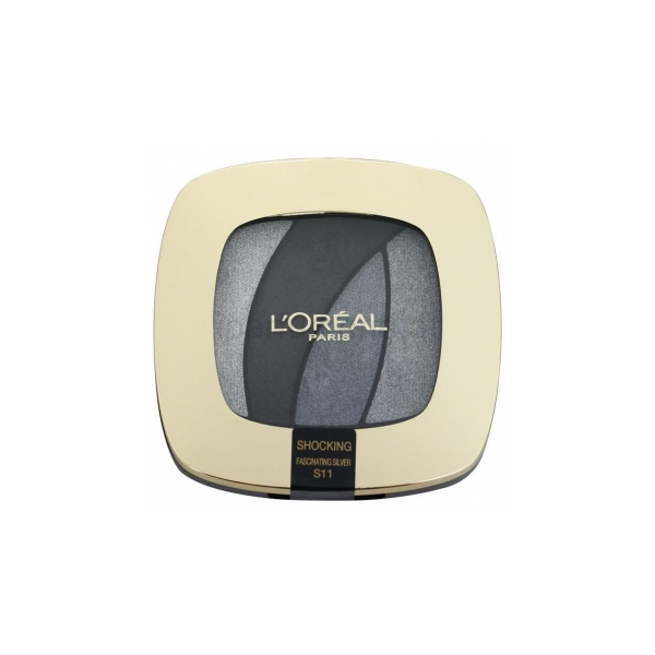 LOral Paris  Color riche quad  palette ombretti s11 fascinating silver