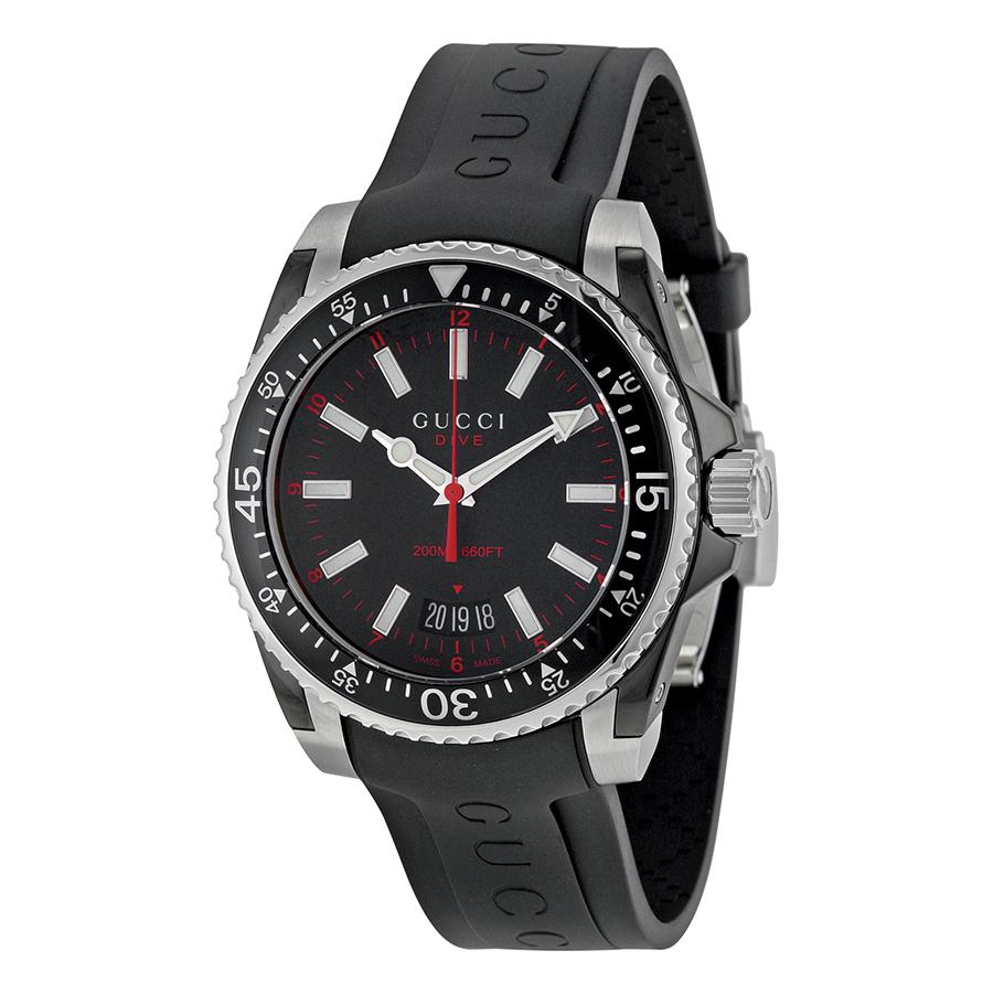Orologio uomo Gucci YA136303  DIVER LG BLACKRED