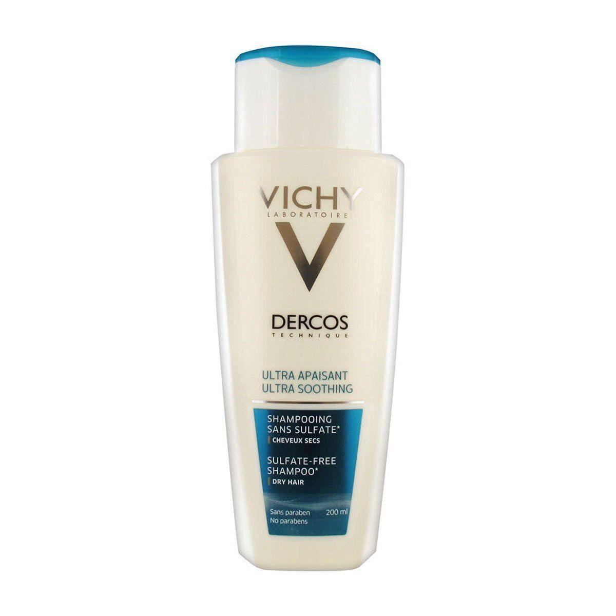 Vichy  Dercos Ultra Soothing Shampoo Dry Hair 200ml