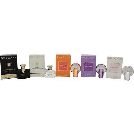 Bvlgari Miniatures Confezione Regalo 5 x 5ml  Jasmin Noir EDP  Mon Jasmin Noir EDT  Omnia Indian Garnet EDT  Omnia Amethyste EDT  Omnia Crystalline EDT