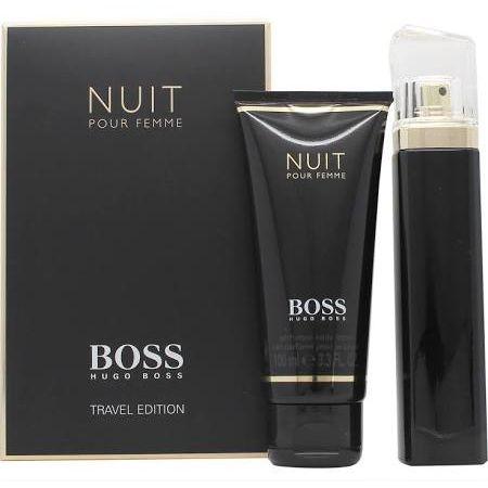 Hugo Boss Boss Nuit Pour Femme Confezione Regalo 75ml EDP Spray  100ml Lozione Corpo