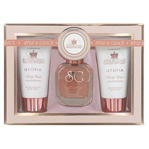 Style  Grace Utopia Fragrance Confezione Regalo 50ml EDP  70ml Bagnoschiuma  70ml Lozione per il Corpo
