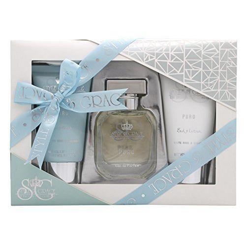 Style  Grace Puro Fragrance Confezione Regalo 50ml EDP  70ml Bagnoschiuma  70ml Lozione Corpo