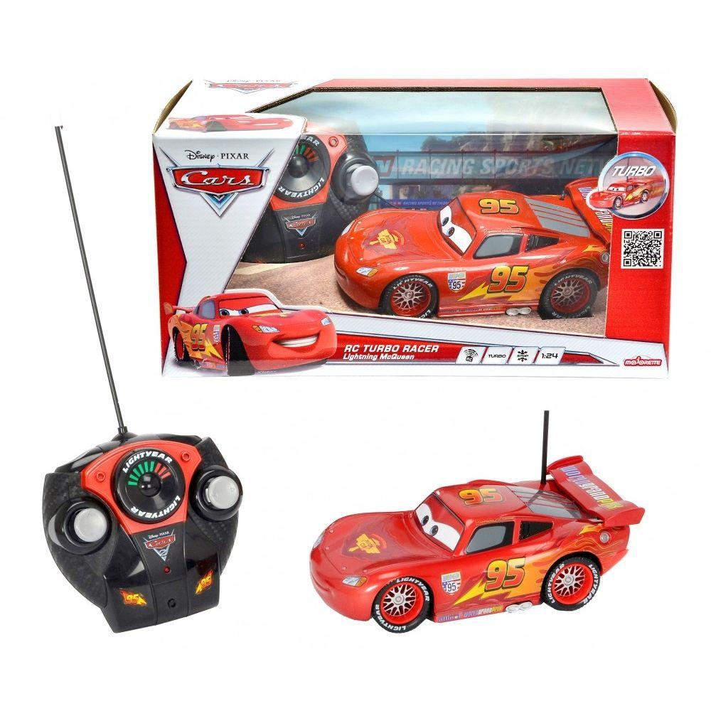 MACCHINA RADIOCOMANDATA CARS 213089538 SAETTA MC QUEEN METALLIC SCALA 124