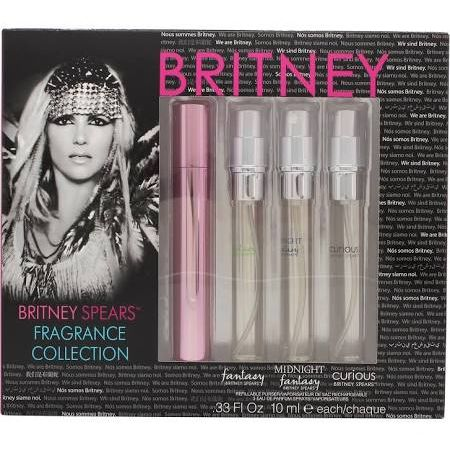 Britney Spears Fragrance Collection Confezione Regalo 10ml EDP Fantasy  10ml EDP Midnight Fantasy  10ml EDP Curious  10ml EDP Radiance