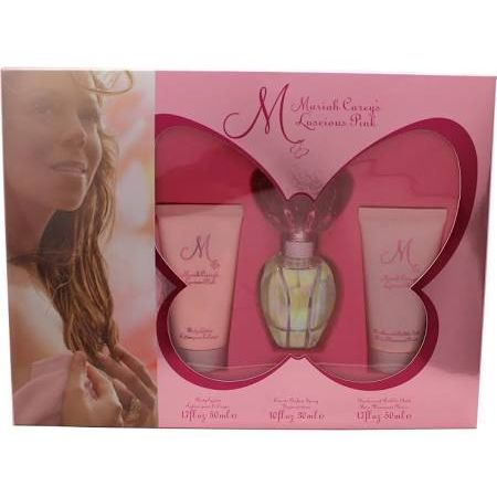 Mariah Carey Luscious Pink Confezione Regalo 30ml EDT  50ml Lozione per il Corpo  50ml Gel Doccia