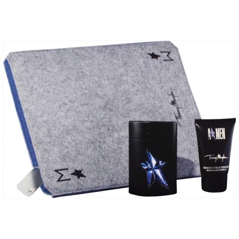 Thierry Mugler AMen Confezione Regalo 50ml EDT Spray  50ml Gel Doccia  Custodia per iPad