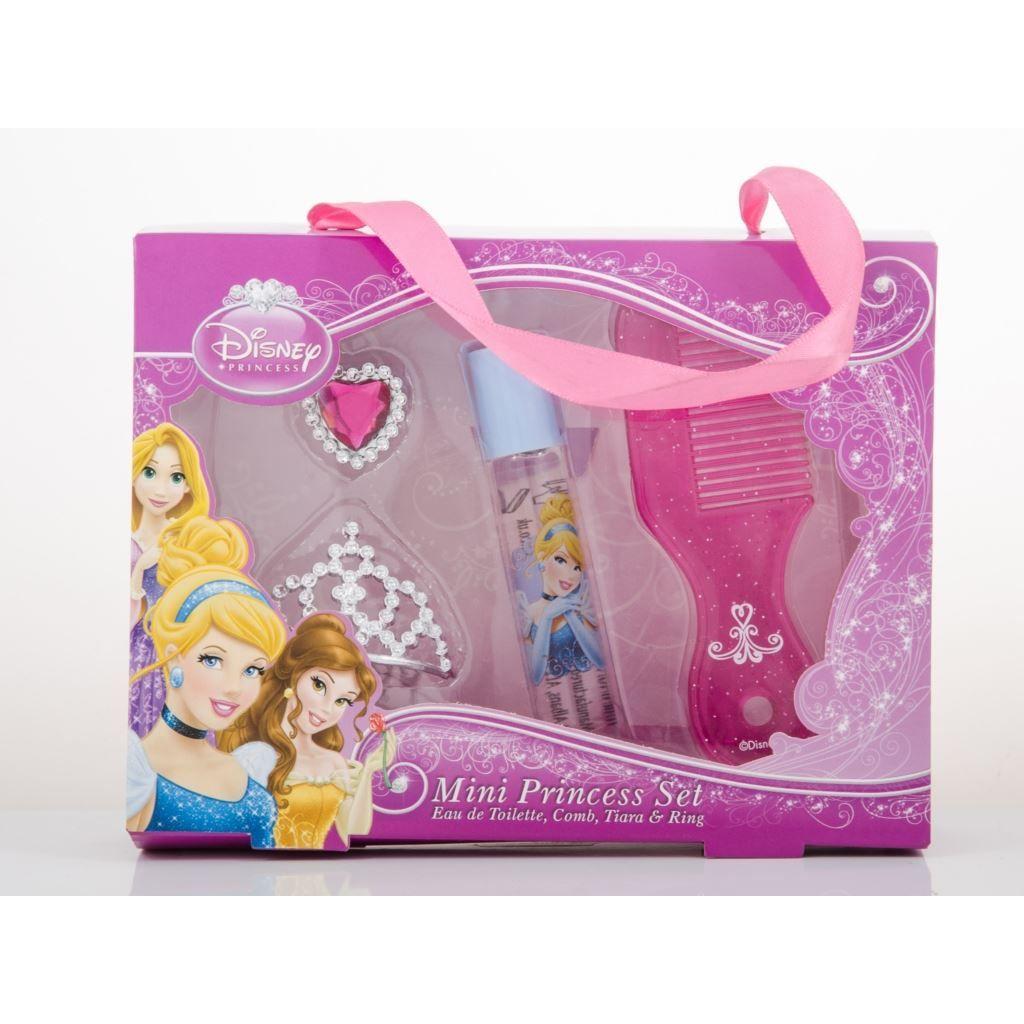 Disney Princess Ladies Confezione Regalo Mini Princess Set 8ml EDT RollOn  Pettine  Tiara  Anello