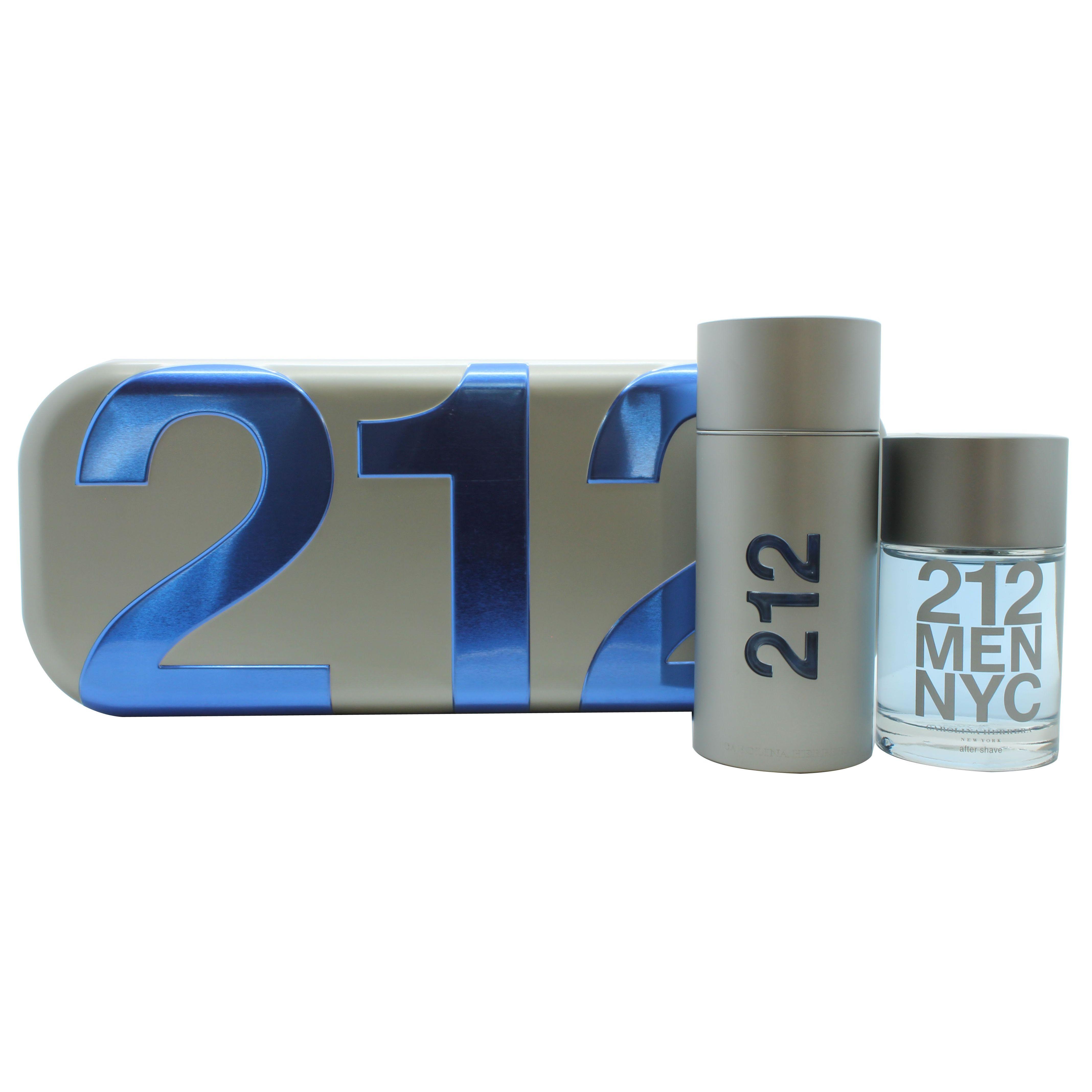Carolina Herrera 212 Men Confezione Regalo 100 ml EDT  100 ml Dopobarba Splash