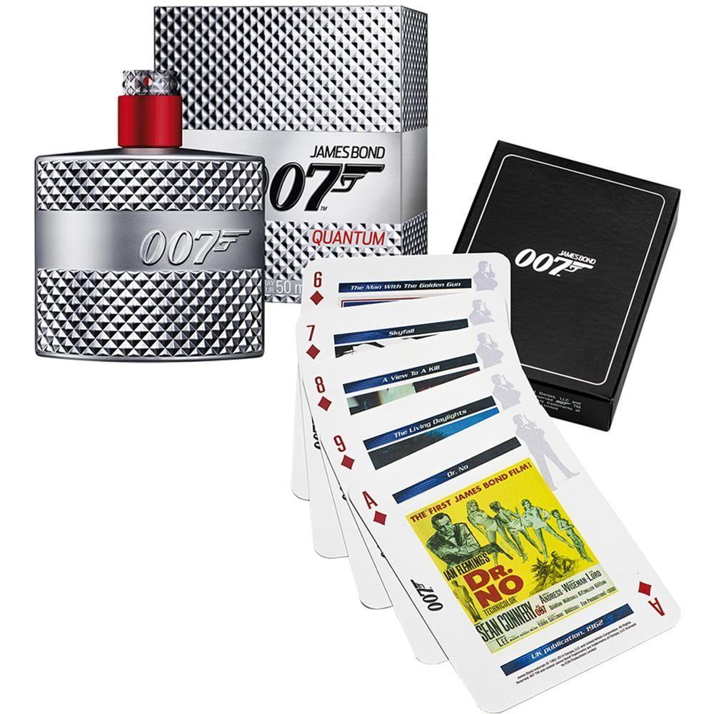 James Bond 007 Quantum Confezione Regalo 50 ml EDT  Carte da Gioco
