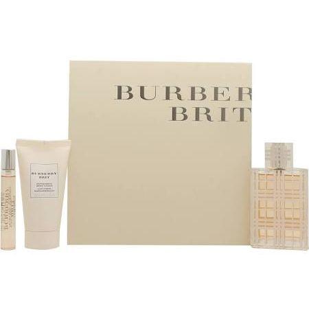 Burberry Brit Confezione Regalo 50ml EDT  50ml Lozione per il Corpo  75ml Mini
