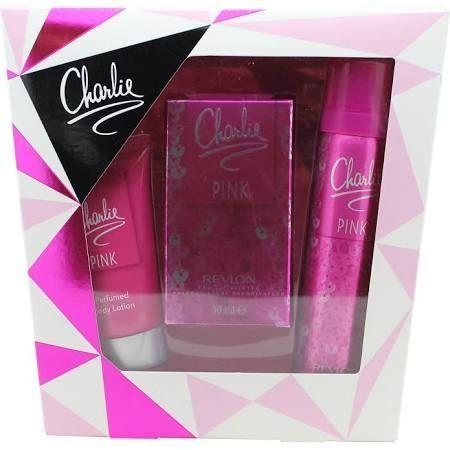 Revlon Charlie Pink Confezione Regalo 30ml EDT  75ml Spray Corpo  50ml Lozione per il Corpo