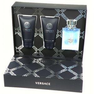 Versace pour Homme Confezione Regalo 50ml EDT  50ml Gel Doccia  50ml Balsamo Dopobarba