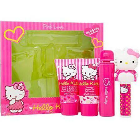 Hello Kitty Pink Love Confezione Regalo 30ml Lozione Corpo  30ml Gel Doccia  45g Balsamo Labbra  Fragranza Fruttata