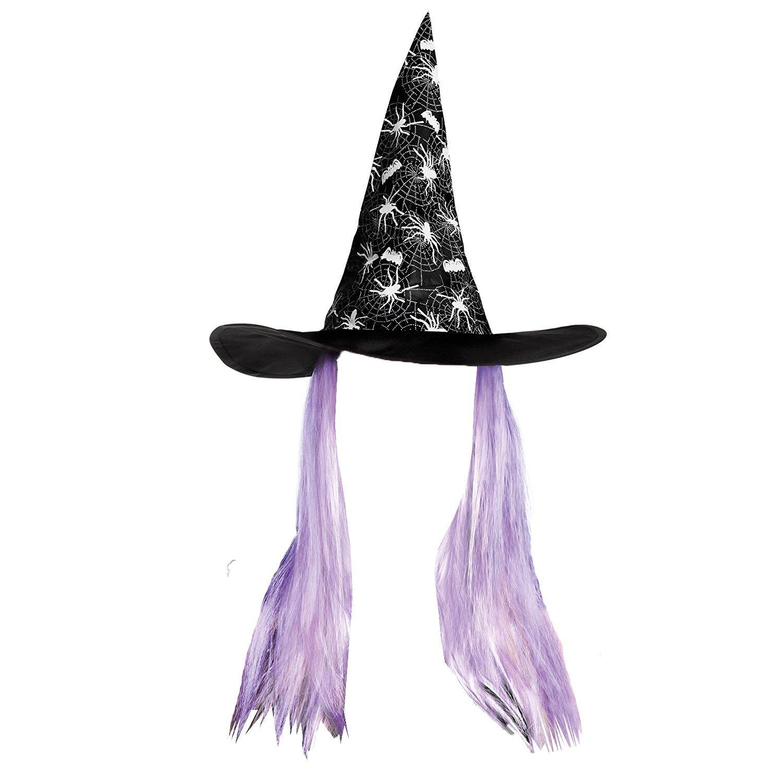 Boland 96931 Aranya  Cappello da strega con parrucca da adulti