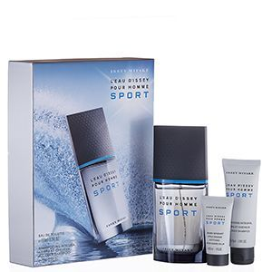 Issey Miyake LEau dIssey Pour Homme Sport Confezione Regalo 100ml EDT  75ml All Over Shampoo  30ml Balsamo Dopobarba