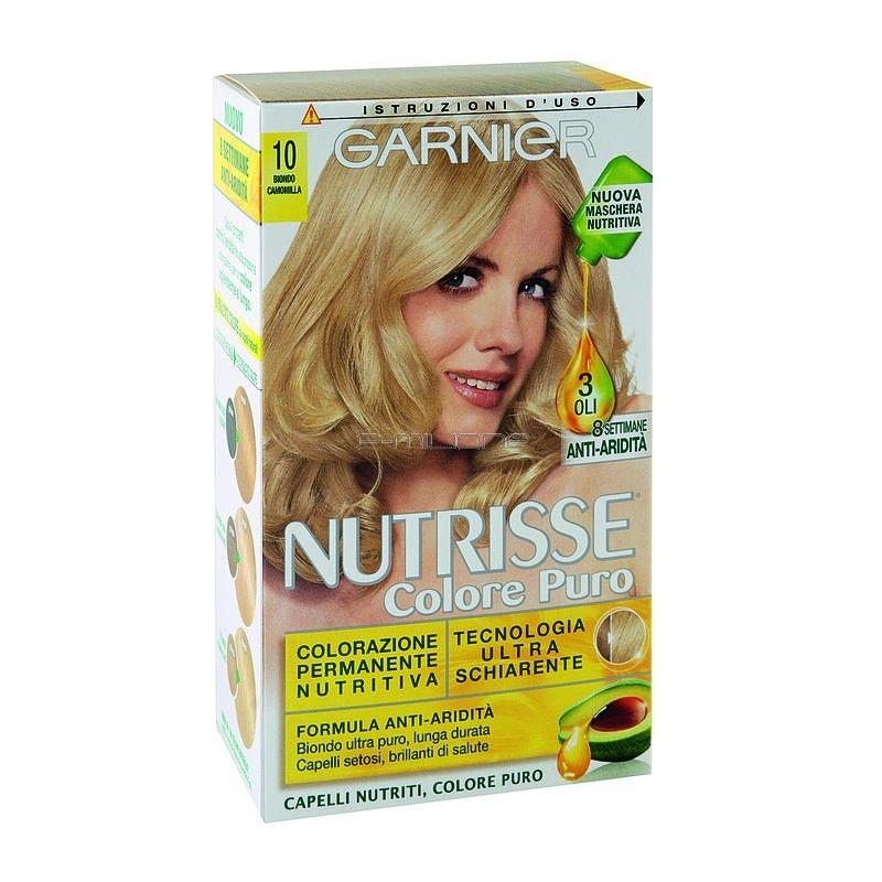 Garnier Nutrisse colore puro camomilla tinta capelli 100 biondo chiarissimo naturale