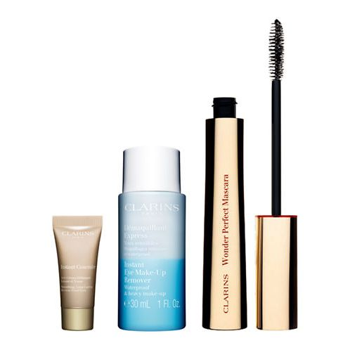 Clarins Be Long Confezione Regalo 7ml Be Long Mascara Nero  30ml Struccante per Occhi  5ml Correttore